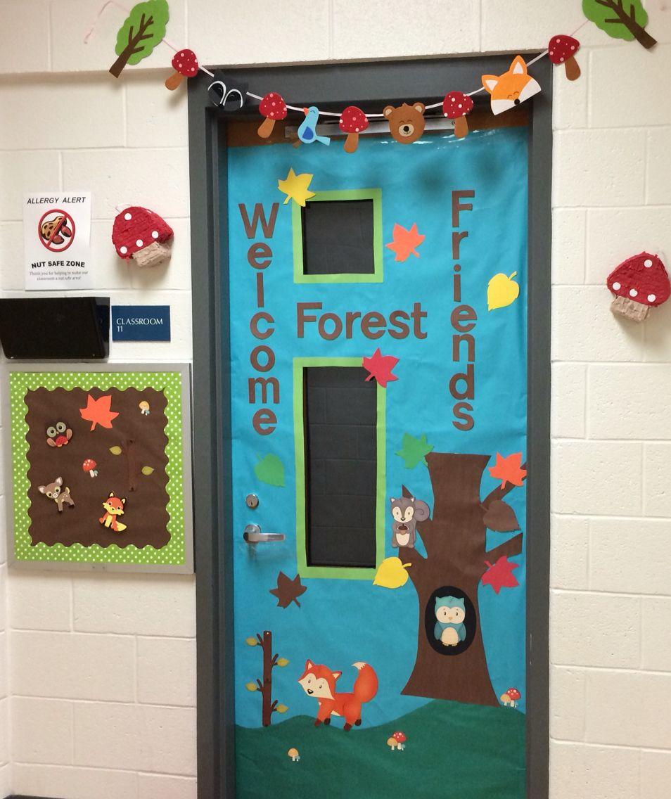 Preschool Woodland Animal Door Forest Theme Classroom