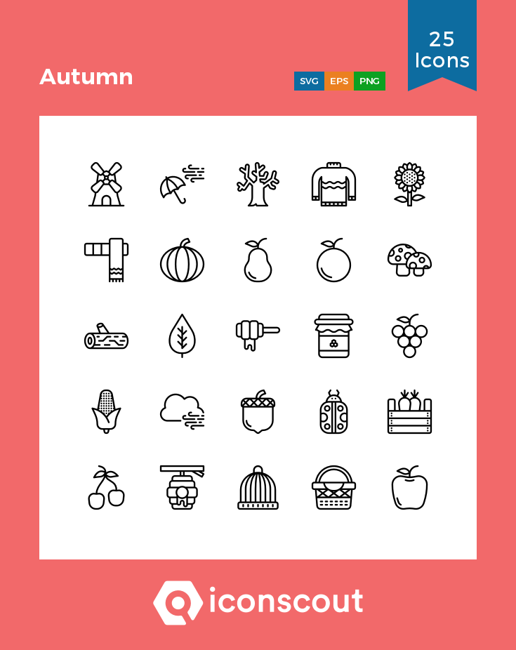 Download Autumn Icon Pack Available In Svg Png Eps Ai Icon Fonts Icon Icon Pack Custom Icons