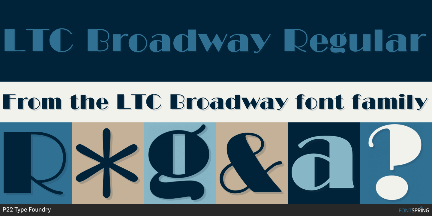 Broadway Regular Font Free Download | Collection Chumbart™ | font