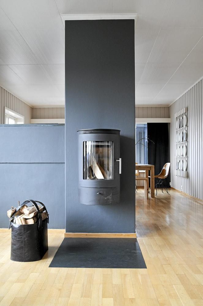A modernized sixties house fireplace Pinterest Feuerstelle