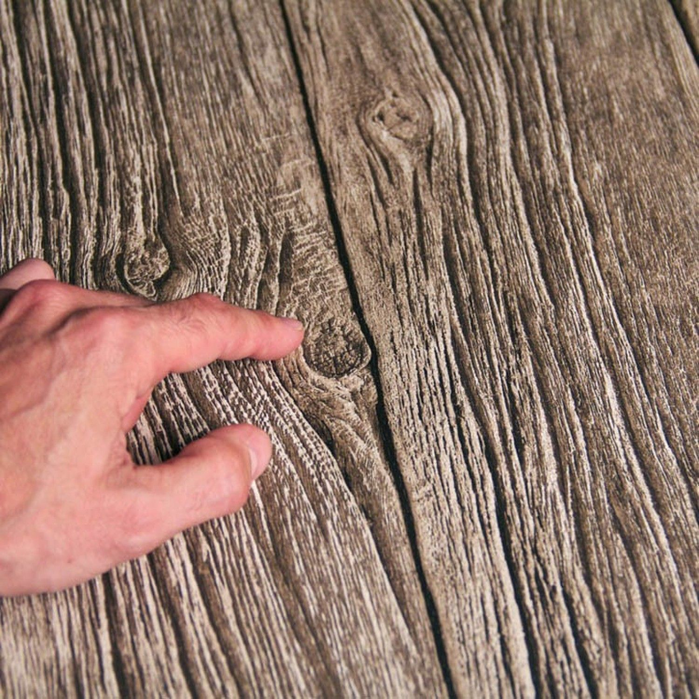 Papier Peint Planches De Bois Flotte Trompe L Oeil Open En Ville