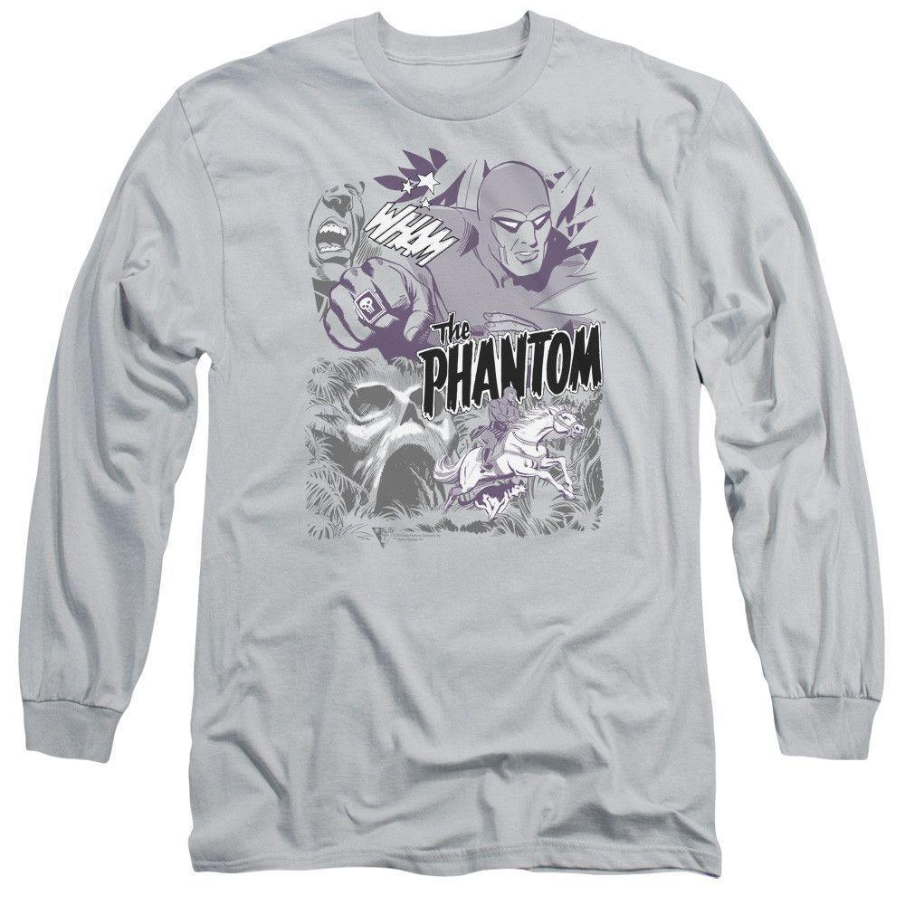 The Phantom: Ghostly Collage Long Sleeve T-Shirt