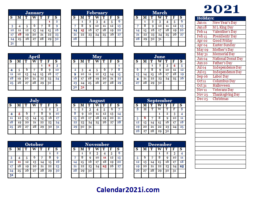 2021 Editable Yearly Calendar Templates In Ms Word Excel Calendar 2021 Yearly Calendar Template Calendar Template Editable Calendar