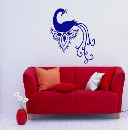 Peacock Peafowl Bird Animal Feathers Tail Wall Vinyl Decal Art Sticker Home Modern Stylish Design Interior Decor for Any Room Smooth and Flat Surfaces Housewares Murals Window Graphic Living Room Bedroom (3946) stickergraphics http://www.amazon.com/dp/B00IL35904/ref=cm_sw_r_pi_dp_6KWVtb00TGNE569V