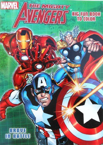 Marvel The Mighty Avengers Coloring Book With Captain America Hulk And Thor Brave In Battle Niftywarehouse Com Nif Avengers Coloring Coloring Books Avengers