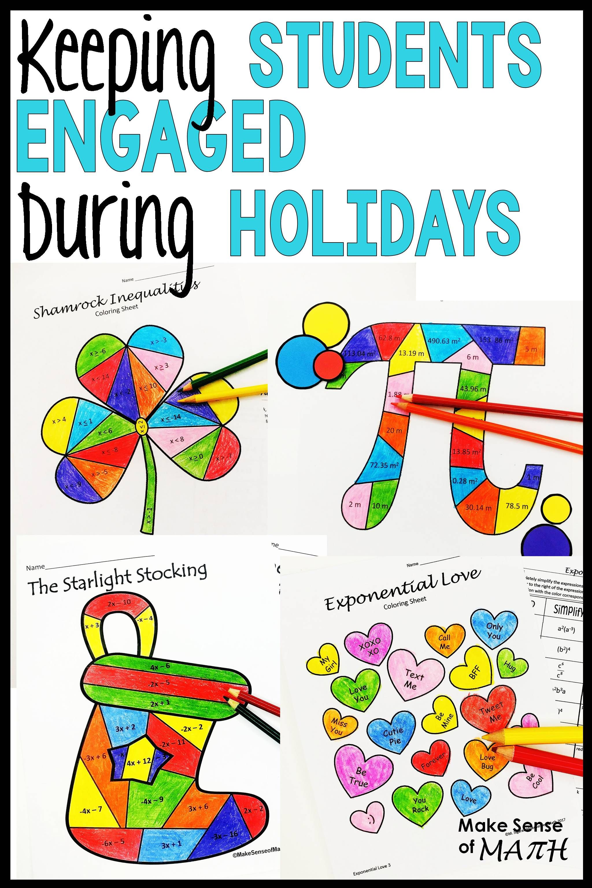 Engage Math Students During Holidays