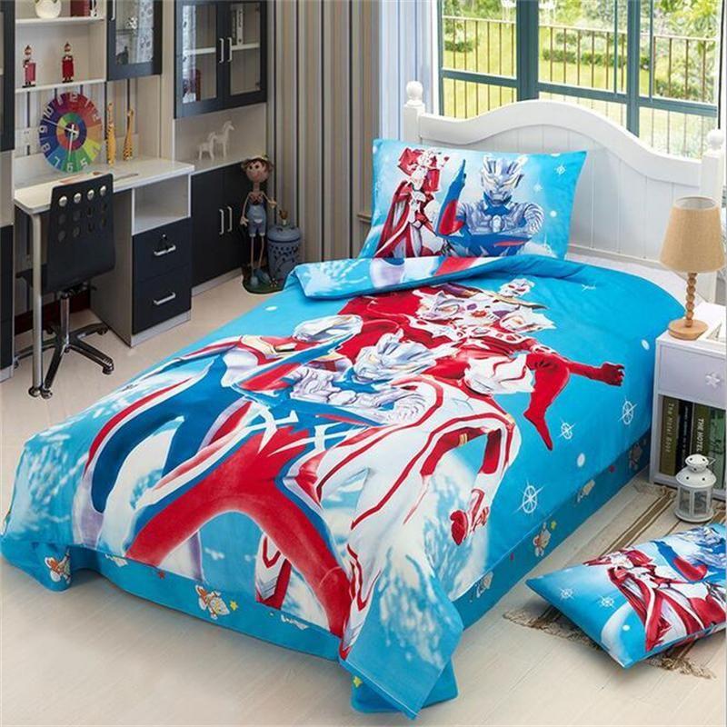 Japanese Anime Character Super Hero Ultraman Bedding Set