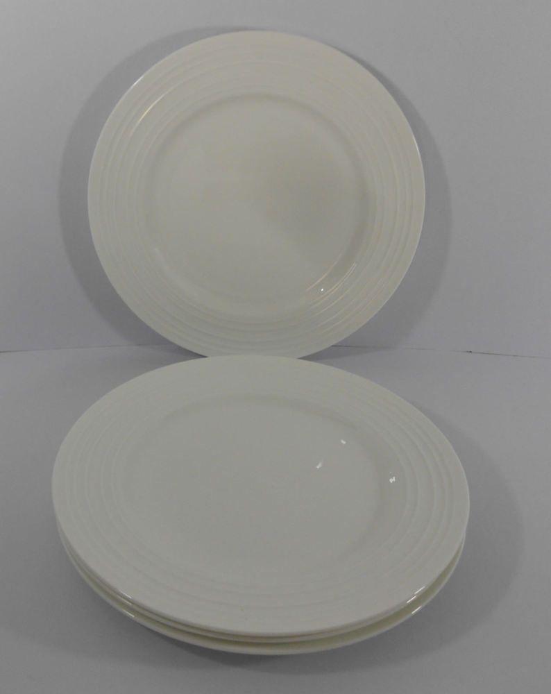 57f72c010b0b Mikasa Ciara Dinner Plates White Bone China Set of 4  Mikasa