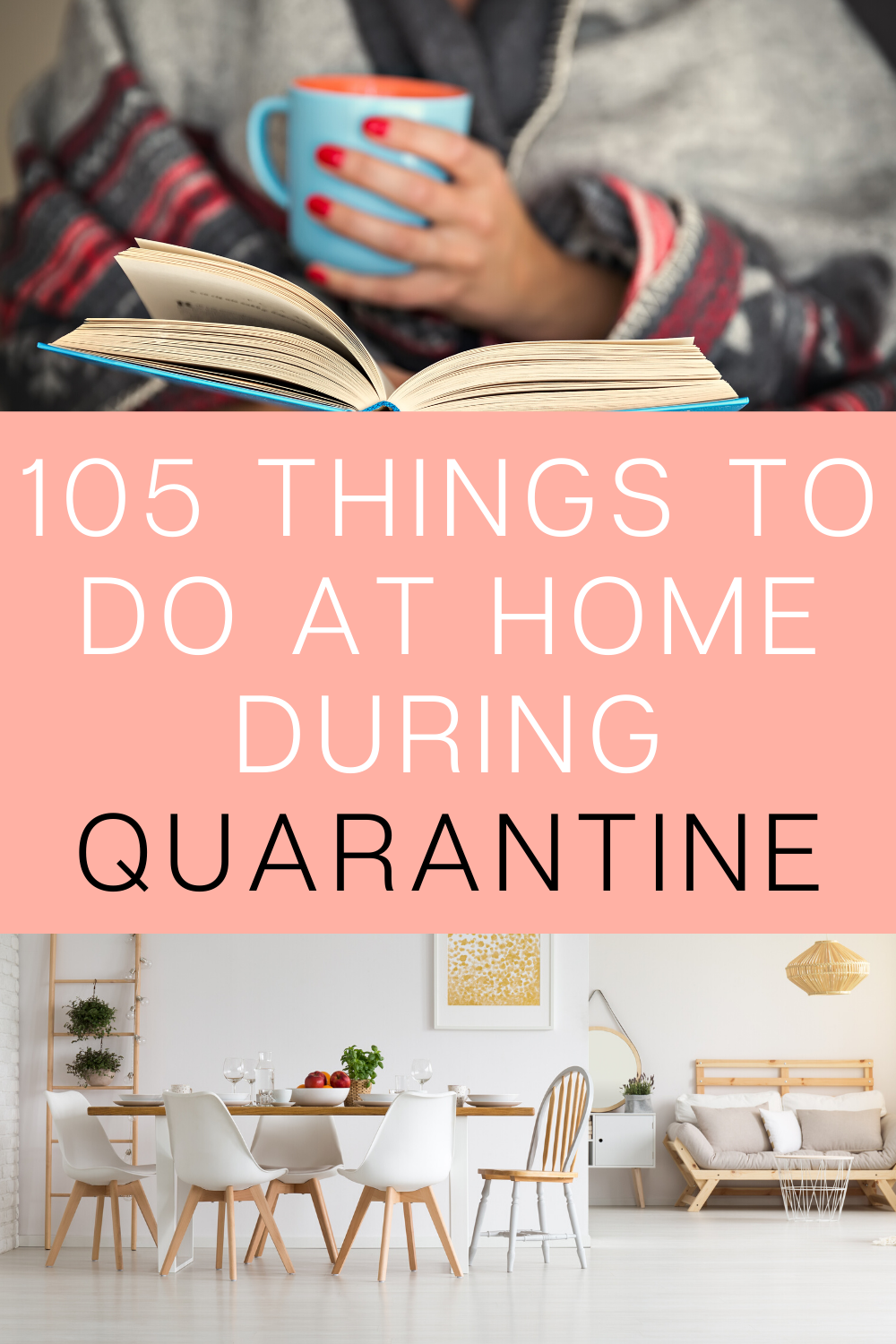 If you have a lot of free time to spend at home, here are some great ideas to fill your time. Be productive with your time alone at home. There are also creative ideas for when you're bored with friends, family, or kids and teens. These are great for inside on a rainy day, or when a pandemic hits. Check out these 105 things to do at home that aren't Netflix!