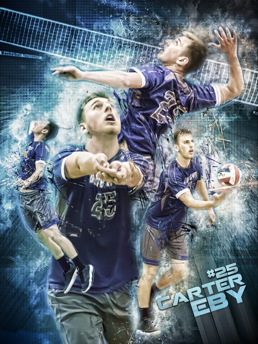Custom Profesional Sports Poster Collage For Any Sport Team Or Etsy In 2020 Sport Poster Sport Poster Design Senior Posters