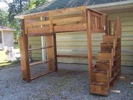 Bunk Bed Bookshelf Foter Stair Bed Kid Beds Bunk