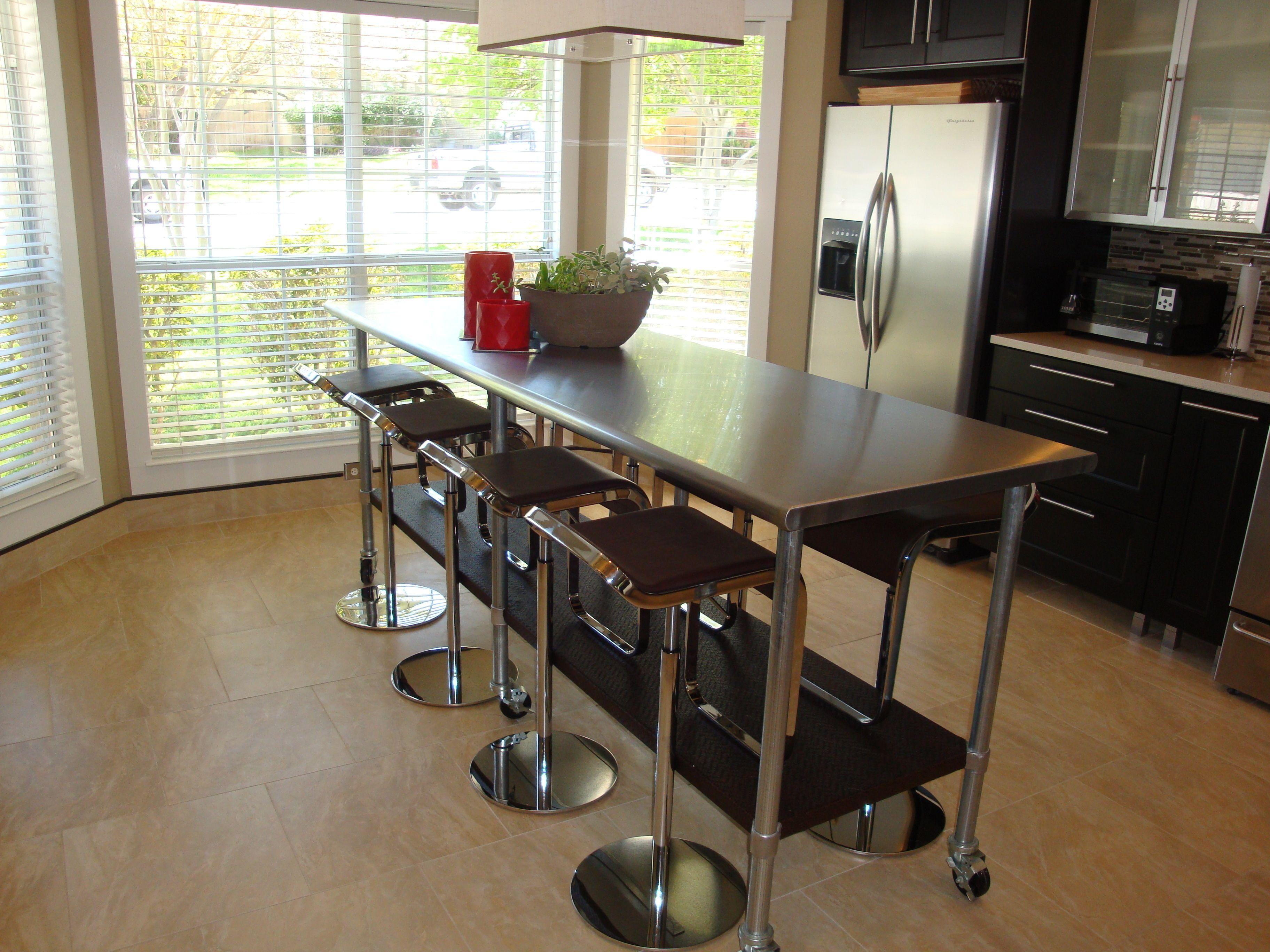 Zeitgenössischen Edelstahl Tisch Küche #Badezimmer #Büromöbel ...