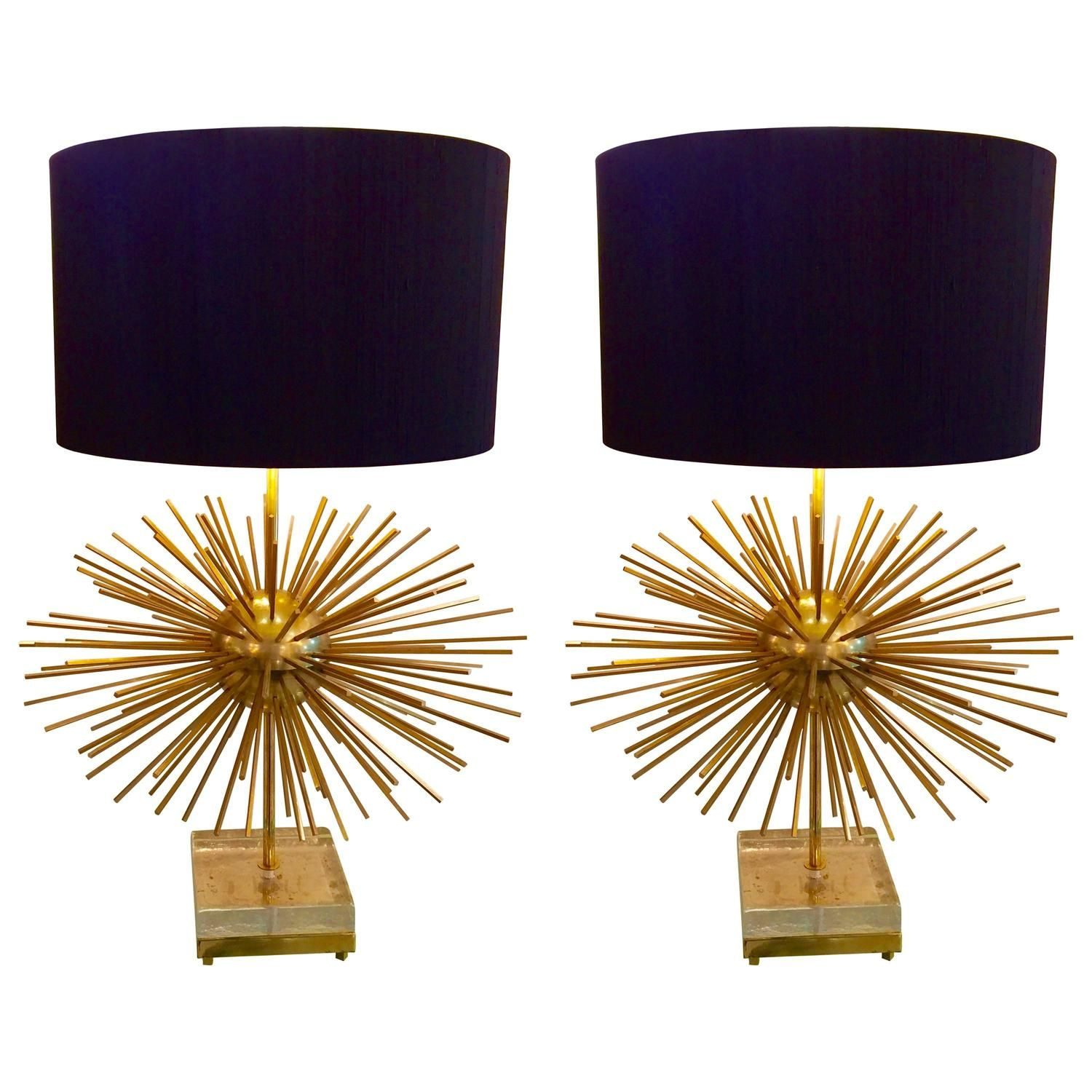 Pair of Big Sputnik Murano Lamps | From a unique collection of antique and modern table lamps at https://www.1stdibs.com/furniture/lighting/table-lamps/