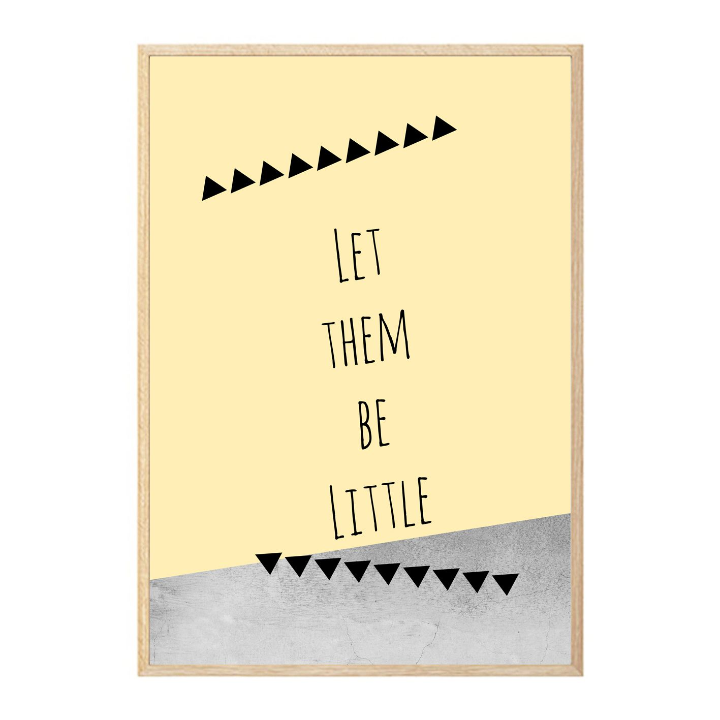 let them be little wall art print, poster, concrete, geometric ...