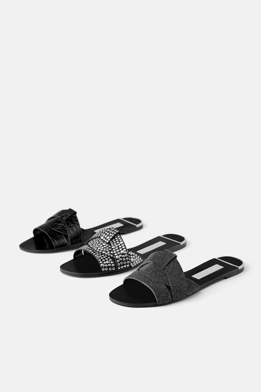 sandals, Studded flats