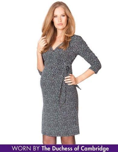 8c6917001c SS Maternity Wrap Dress With Tie Navy Spot