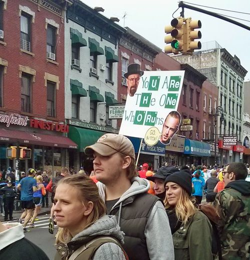 Another NYC Marathon sign. (previously) [via]