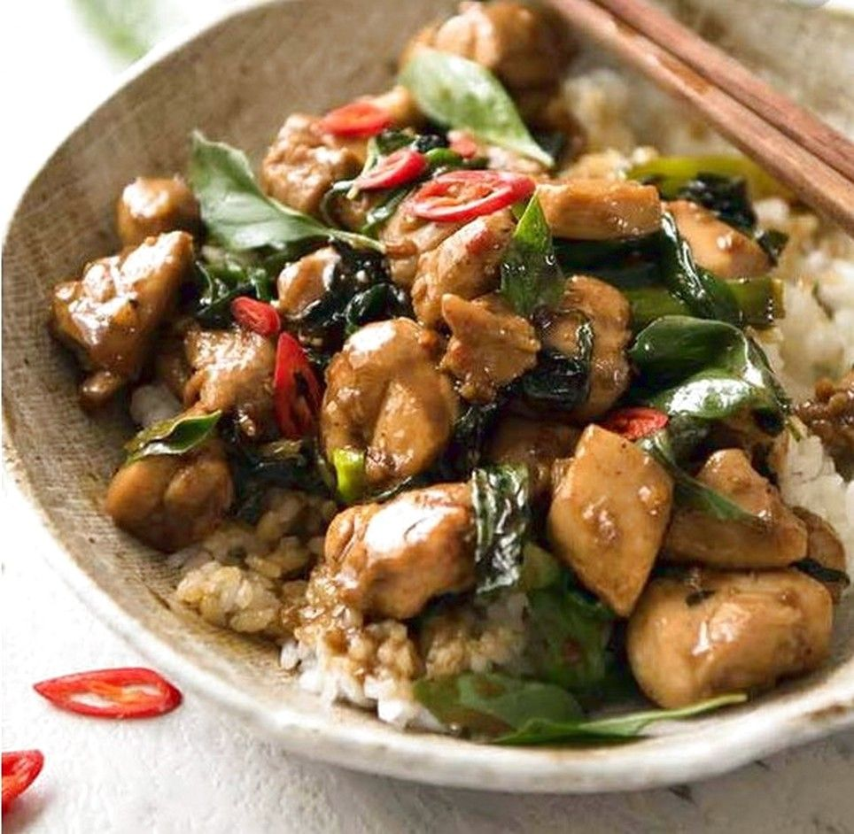 Thai chilli basil chicken might want to substitute a little more thai chilli basil chicken might want to substitute a little more dark soy sauce thai food recipesentree forumfinder Image collections