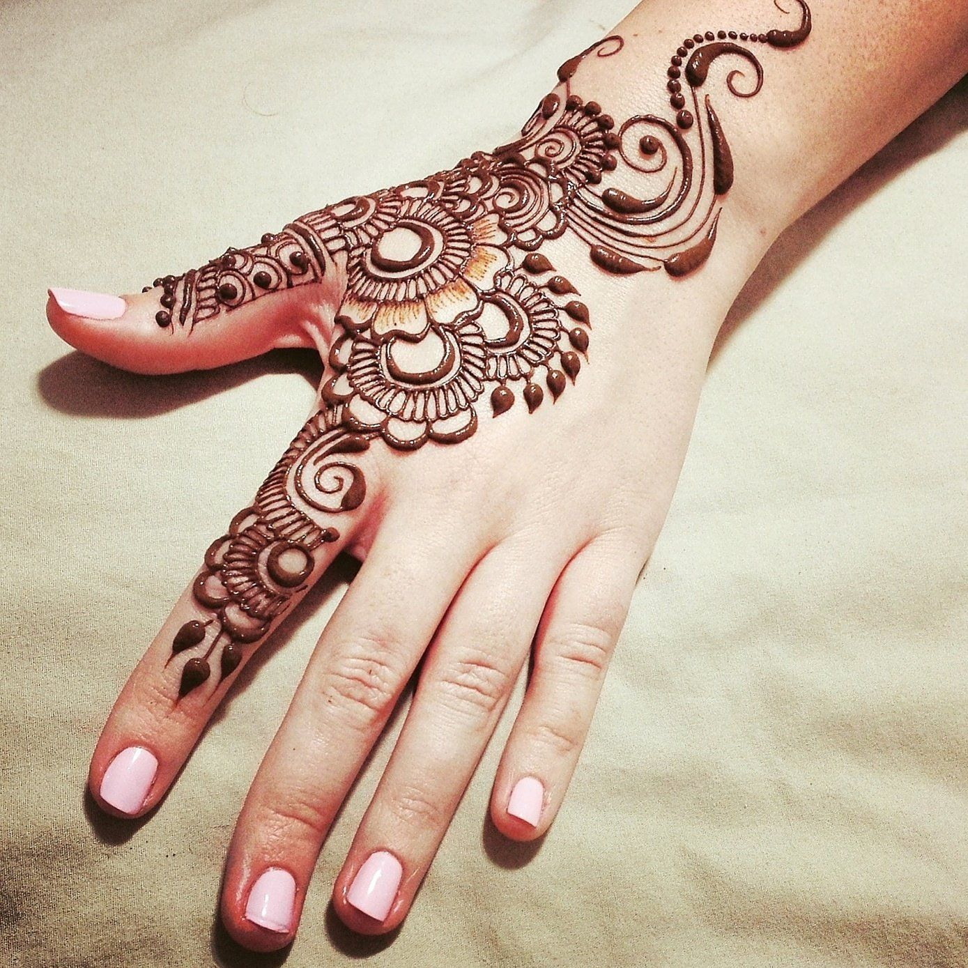 All-in-One: Loving Creative Mehndi Design for Back Hand ...