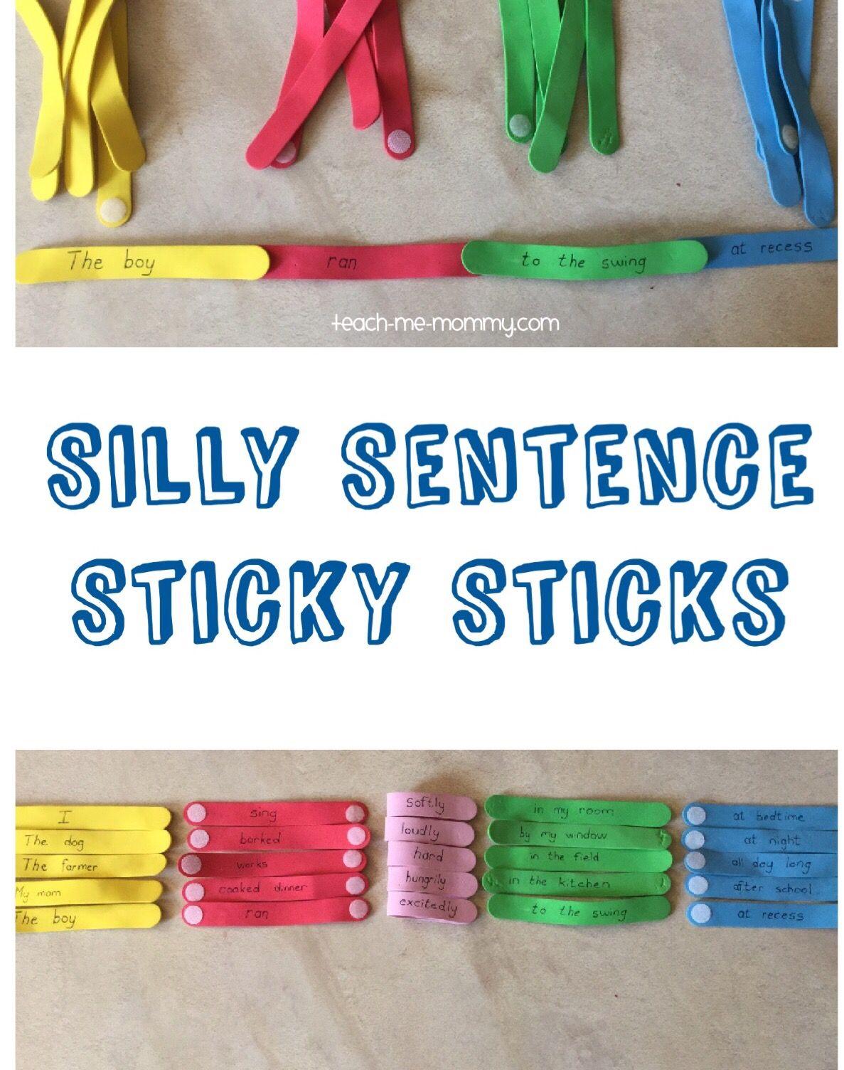 Silly Sentence Sticky Sticks
