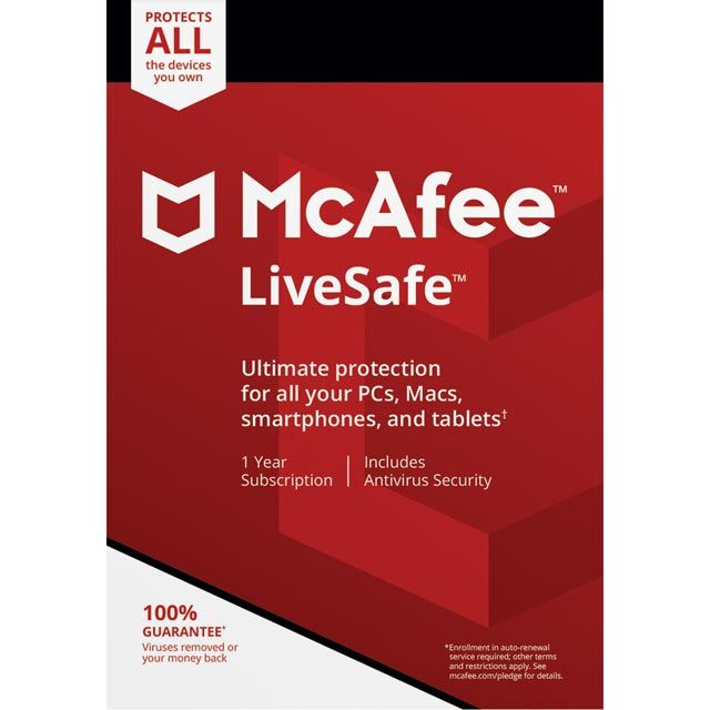 Buy A Mcafee Livesafe 2018 Mls00uaourdd Software Online At