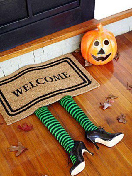 decoracin para Halloween felpudo bruja del este Halloween