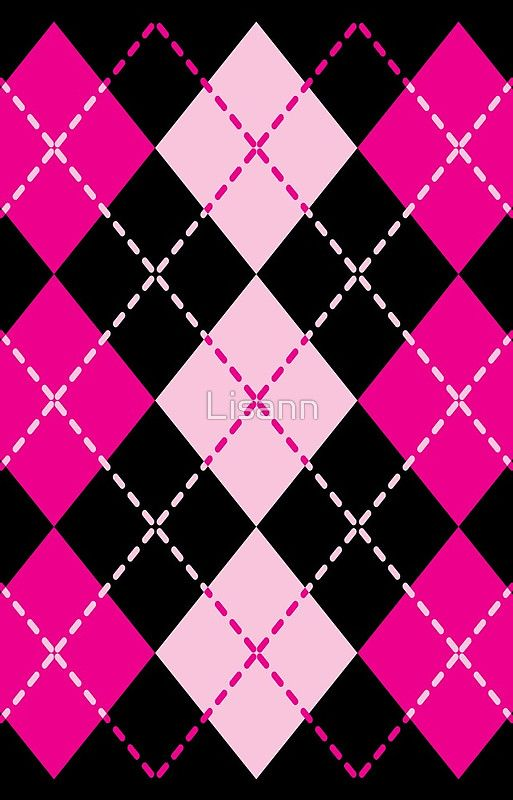Pink Argyle Design Iphone Case By Lisann Pink Wallpaper Iphone