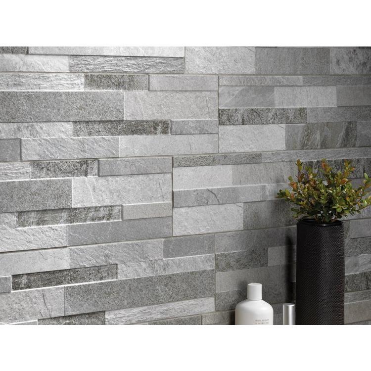 Barrington Silver Porcelain Panel Ledger 6 X 24 100410448 Floor And Decor Wall Tiles Design Grey Feature Wall Room Tiles