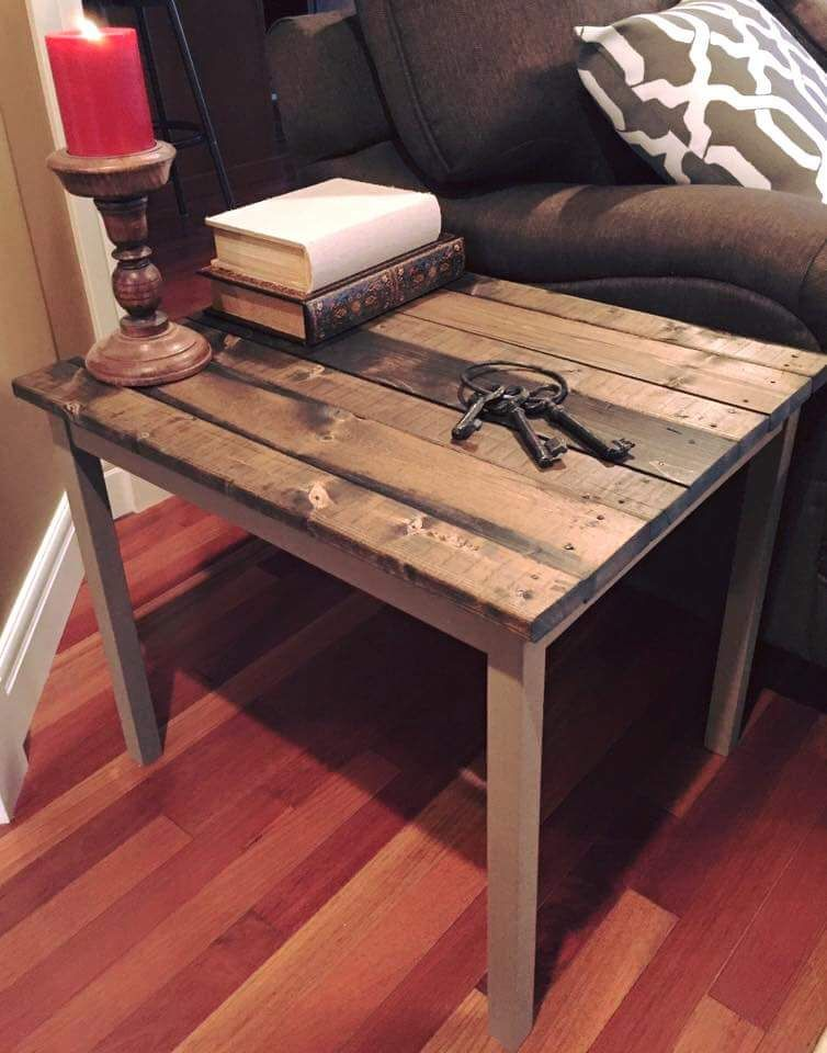 IKEA Hack   Remove The Tabletop Of Your Old Table, And Slat It With Pine