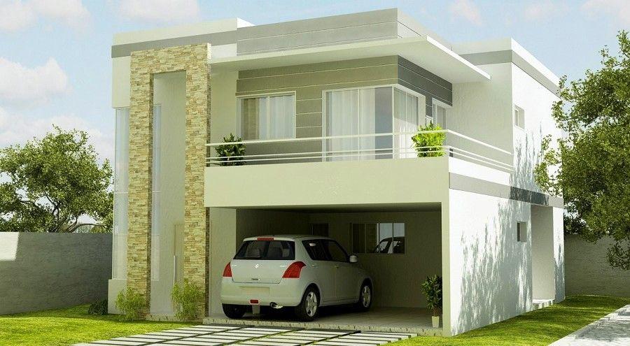 Fachadas de sobrados modernos com sacadas dise os casas pinterest fachada sobrado casas y - Casas modulares diseno moderno ...