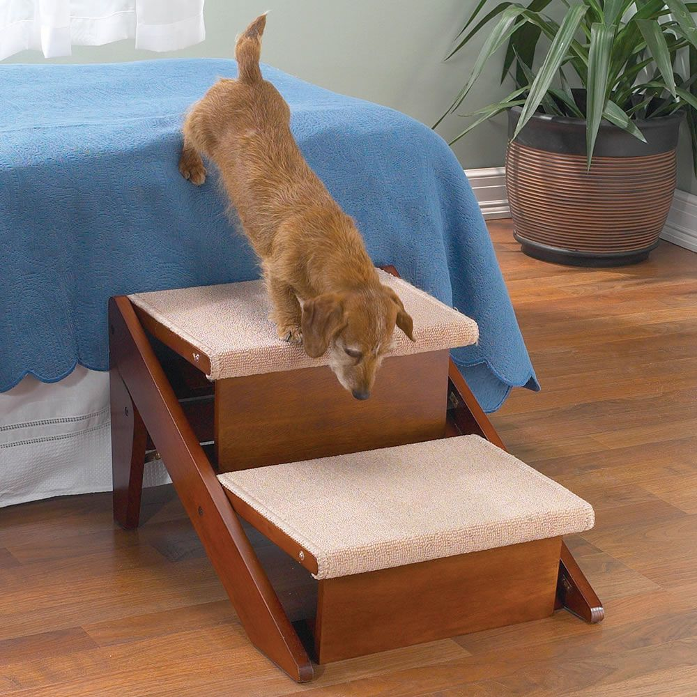 The Pet Ramp And Staircase (Two Step)   Hammacher Schlemmer
