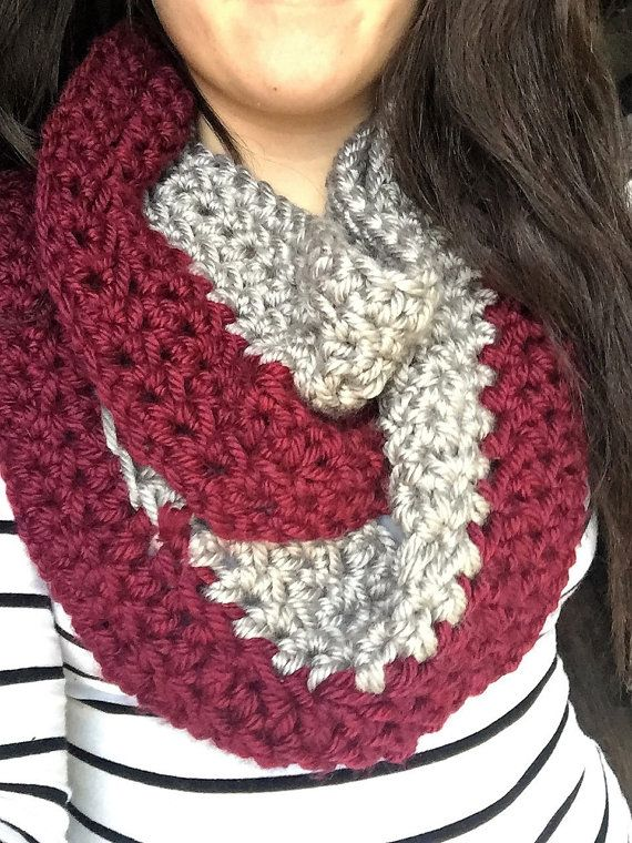 crocheted Chunky infinity scarf by SweetlyByBrooklyn on Etsy