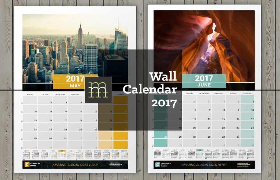 20 Best Wall Calendar Template Designs -PSD,PNG ,EPS Format