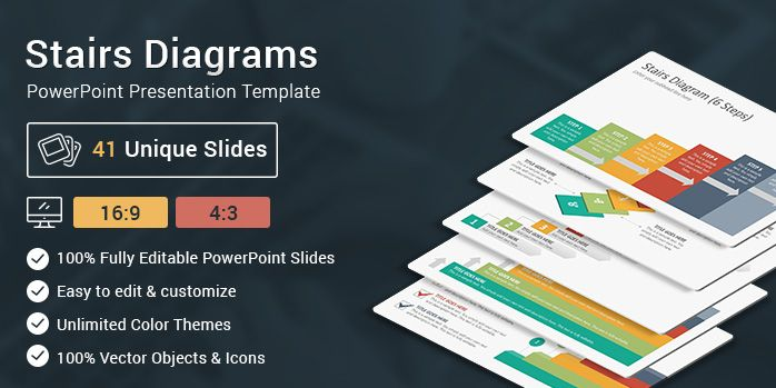 stairs diagrams powerpoint presentation template powerpoint