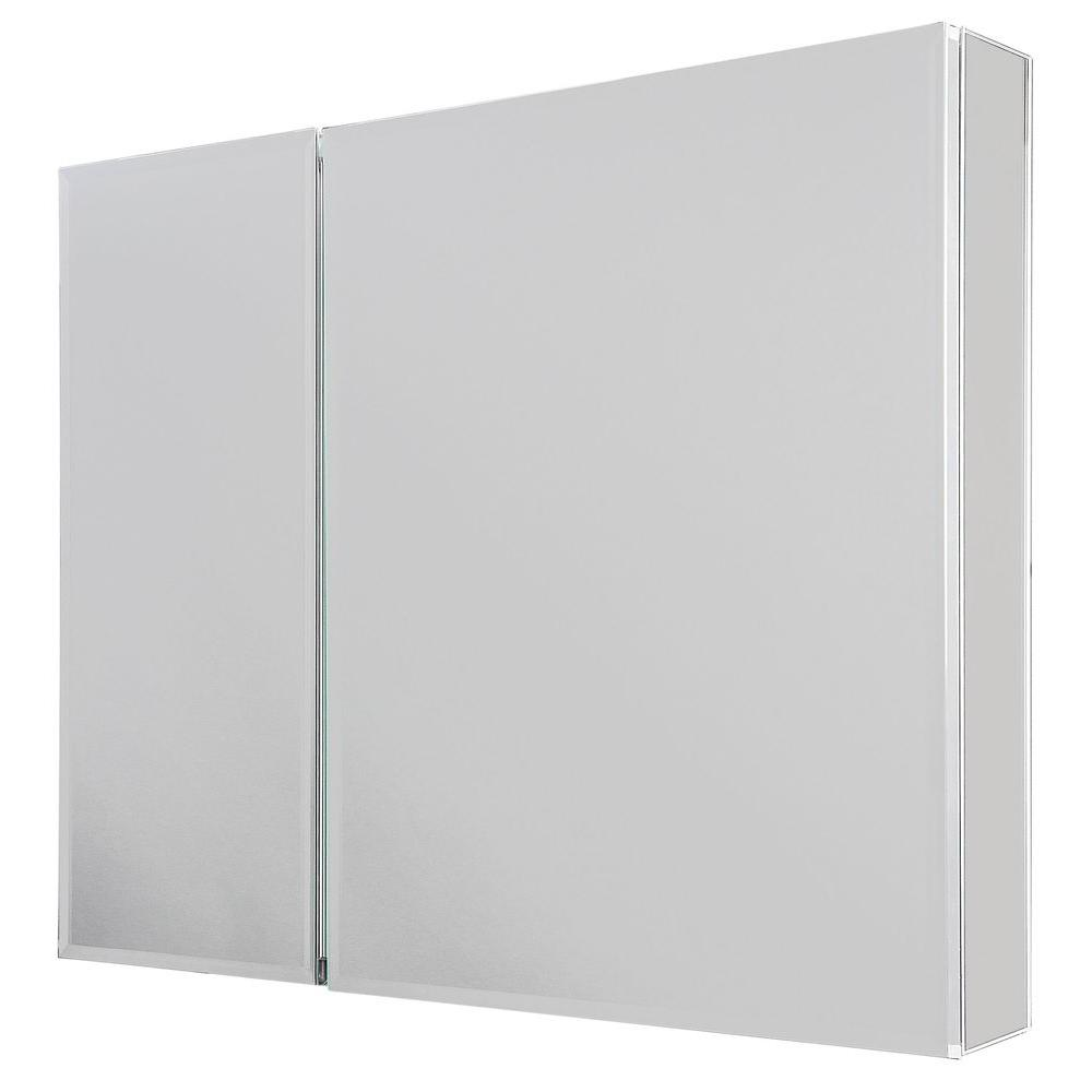 Frameless Surface-Mount Bathroom Medicine Cabinet in White | RRE -  Furniture | Medicine cabinet mirror, Wood medicine cabinets, Pow…