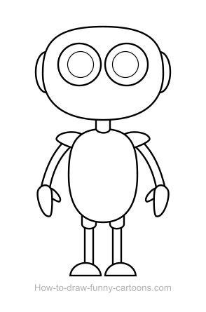 Image Result For Robot Shape Drawing Robots Drawing Drawings
