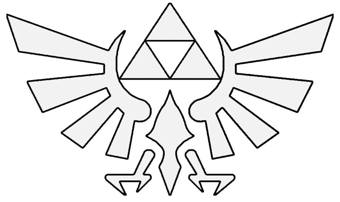 Zelda hyrule crest > base for embroidery pattern Zelda