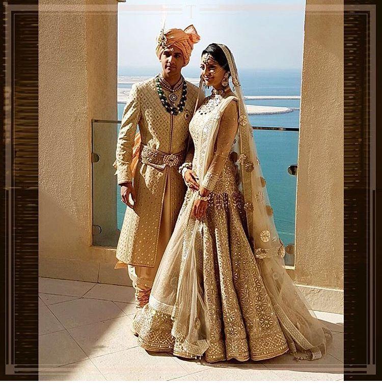Such attractive gold nude lehenga by tarun tahiliani....