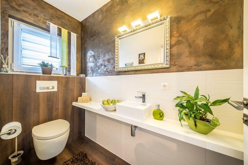 Fertighaus - Wohnidee Gäste-WC Badezimmer #Haus #Fertighaus