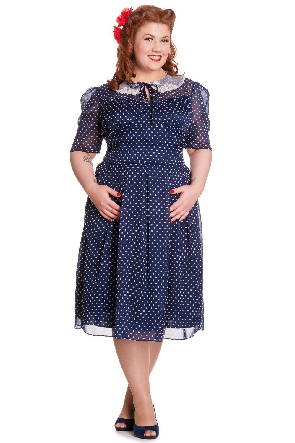 Vintage Style 1940s Plus Size Dresses | 1940s fashion ...