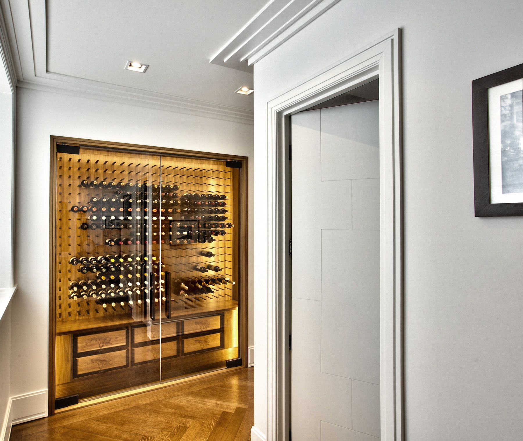 Glass Enclosed Wine Cellar Contemporary Luxury Home Love This