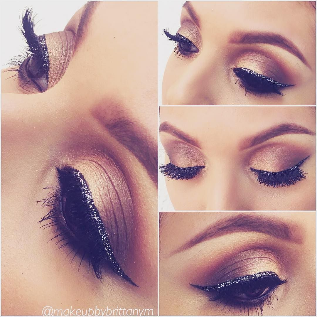 d4c65cbf Glitter totally appropriate after New Years! @makeupbybrittanym dazzles in  Motives Starry Eyes Glitter Eyeliner