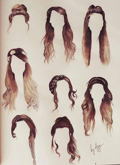 Art Braid Colors Draw Favim Com 2972201 Jpg 500 691 Zoella Hair Hair Sketch Long Hair Styles