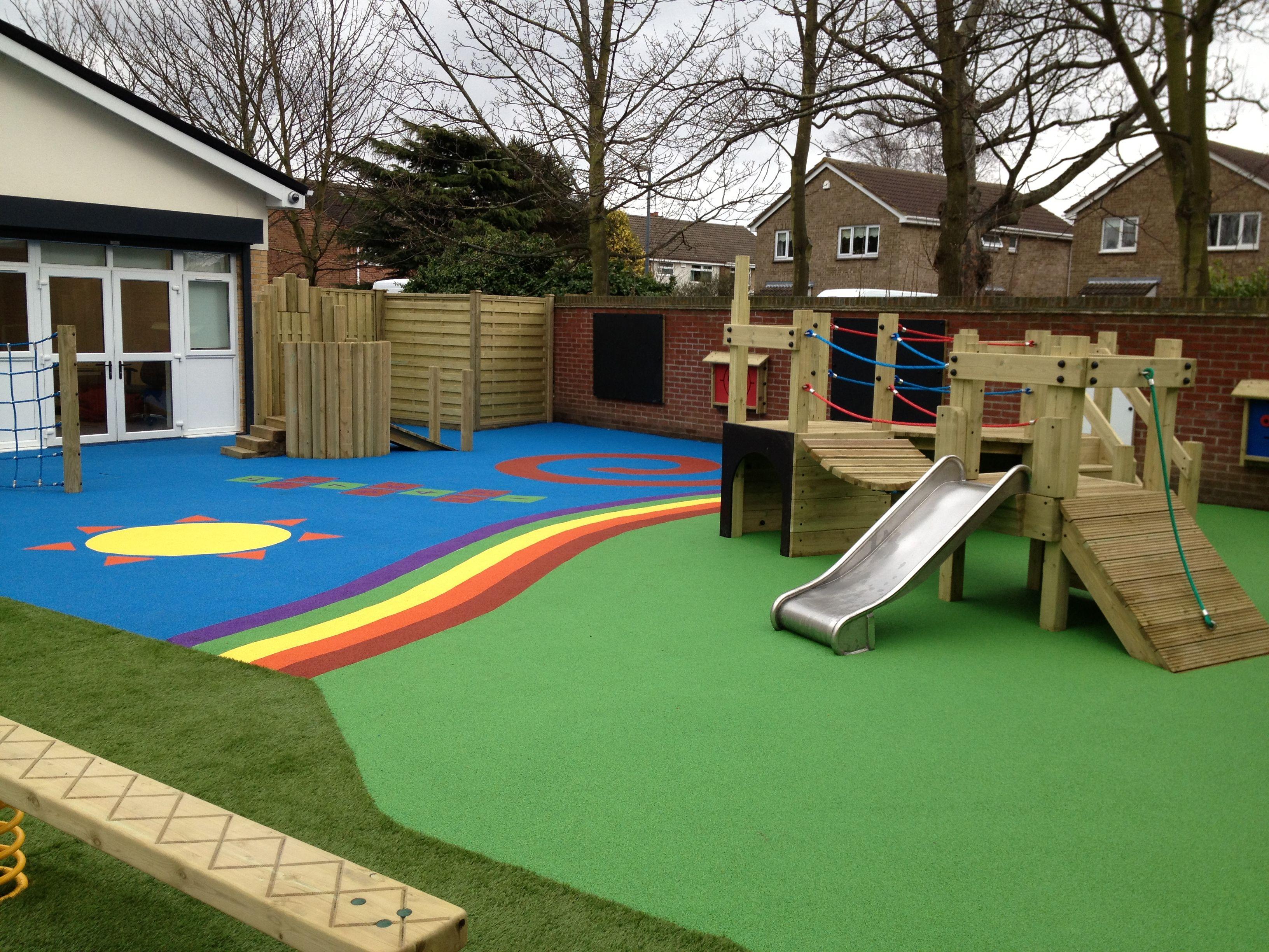 School playground equipment nursery school play for Playground equipment ideas