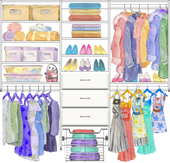 Come And See How To Design The Layout For Your Closet FREE With The CCDS Online  Design Software At Design The Closet
