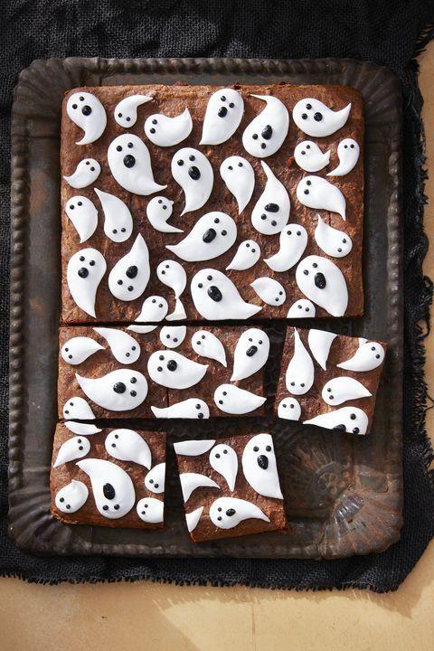 Marshmallow Ghost Brownies #halloweenbrownies
