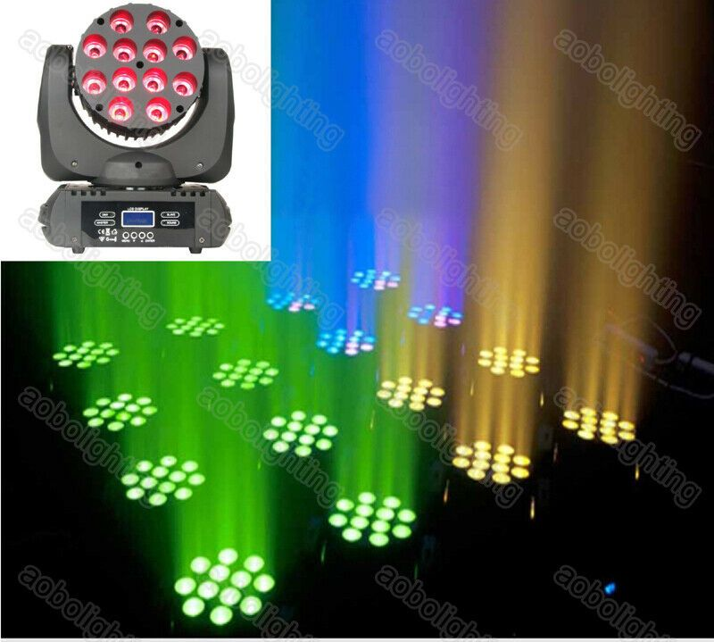 12x10w Cree Led Rgbw 4in1 Beam Dj Light Moving Head Light Led Wash Moving Heads Aobolighting Cree Led Led Lights Dj Lighting