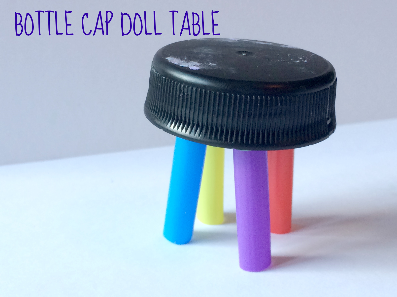 Ridiculously Simple DIY Doll Furniture: Reused Bottle Caps
