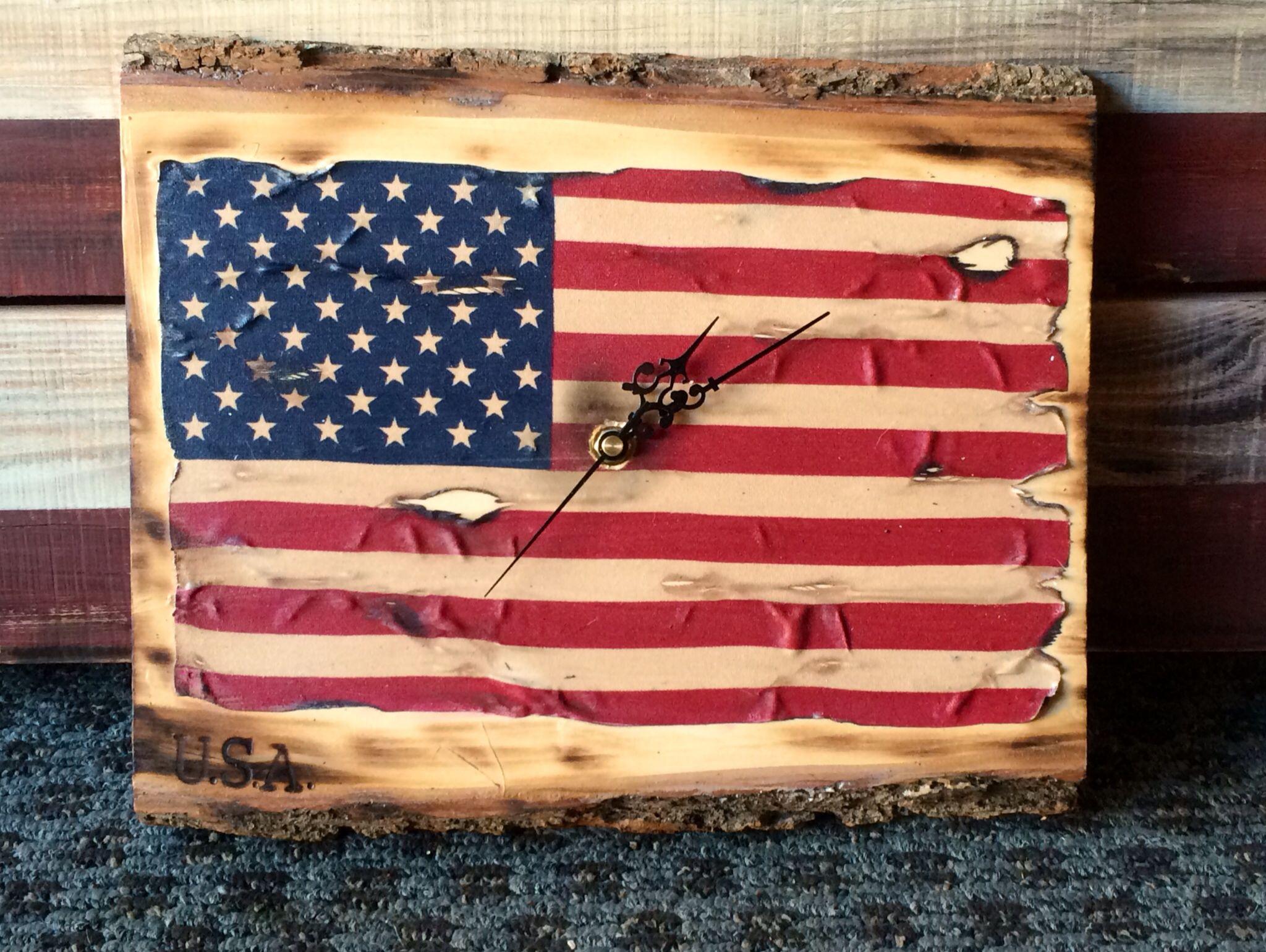 New Creation American Flag Clock Getting Ready For Flag Day America On Main Street Fair El Cajon Ca June 14 American Flag Wood American Flag Work Diy