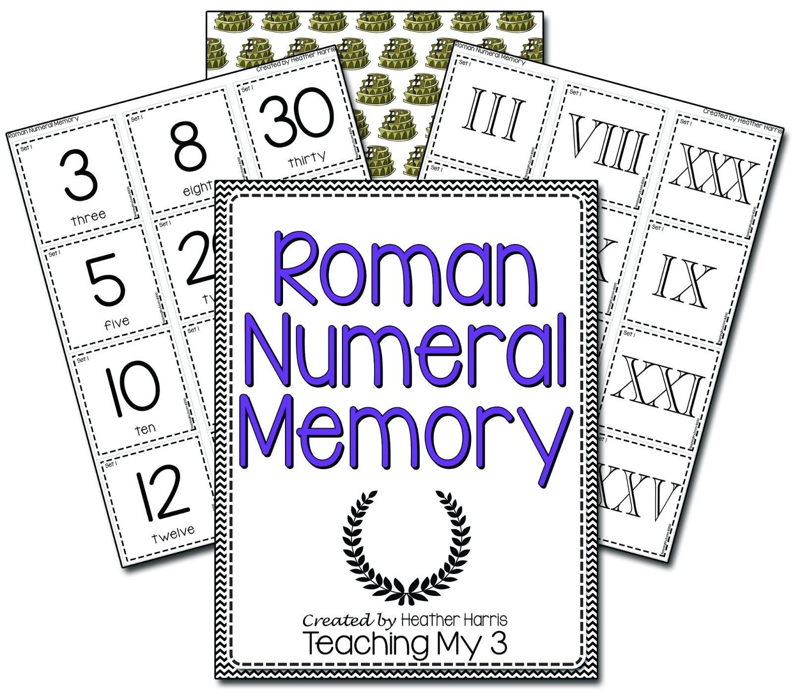 Roman Numeral Memory Fun Way To Learn Roman Numerals